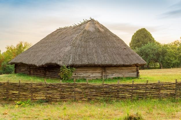 Old ukrainian house in village pirogovo