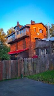 古い珍しいれんが造りの家