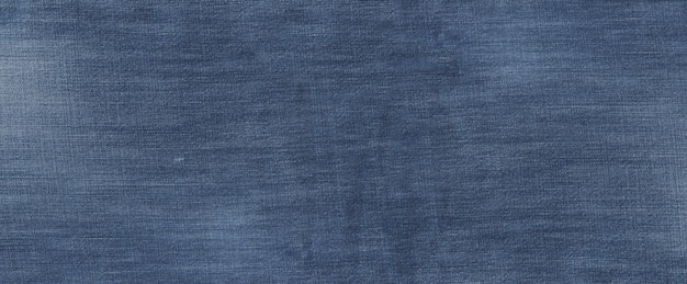 Old used blue denim texture banner