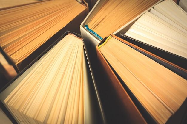 Old and used hardback books