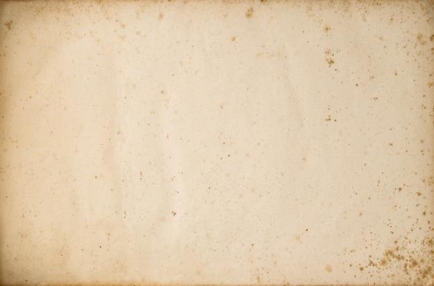 Старая использованная текстура листа бумаги. пустой крафт-фон