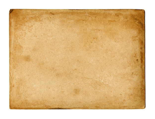 Old used paper texture isolated on white