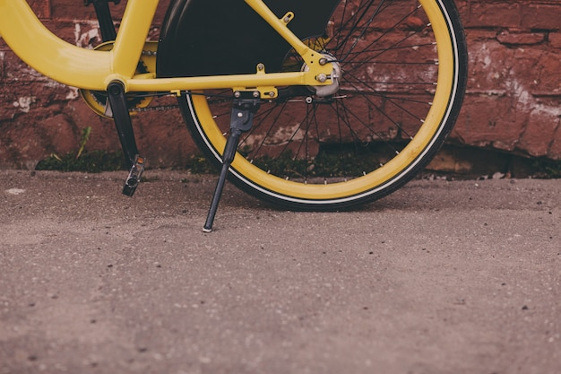 Old vintage bike in the city