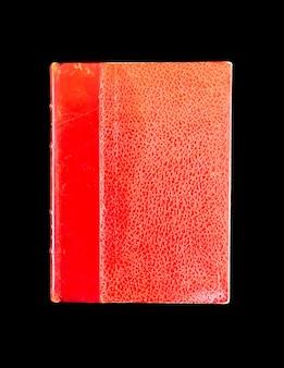 검은 배경에 고립 된 오래 된 빈티지 책