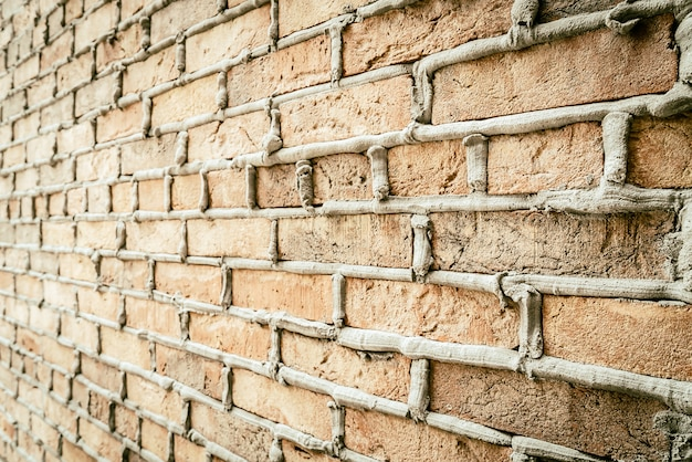 Old vintage brick wall background