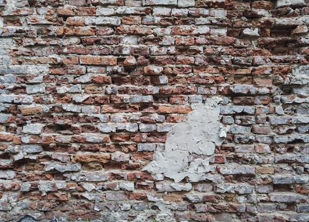 Old vintage brown brick wall background for design