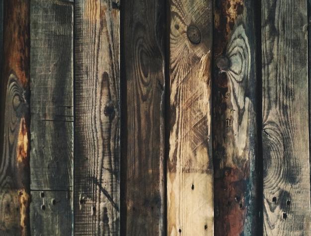 오래된 빈티지 탄 나무 보드 헛간 나무 또는 복사 공간이 있는 나무 배경