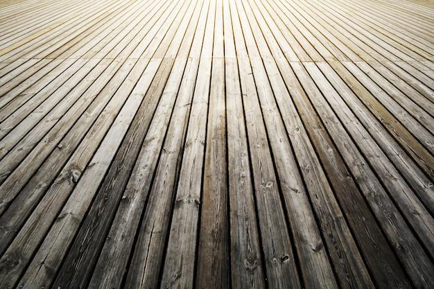 古いヴィンテージの暗い木製の床。