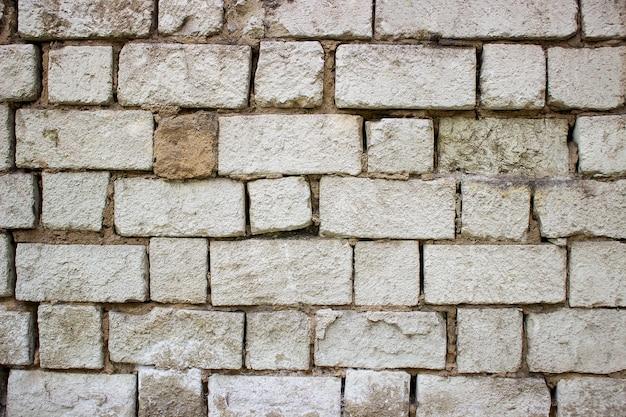 Old vintage dirty brick wall.