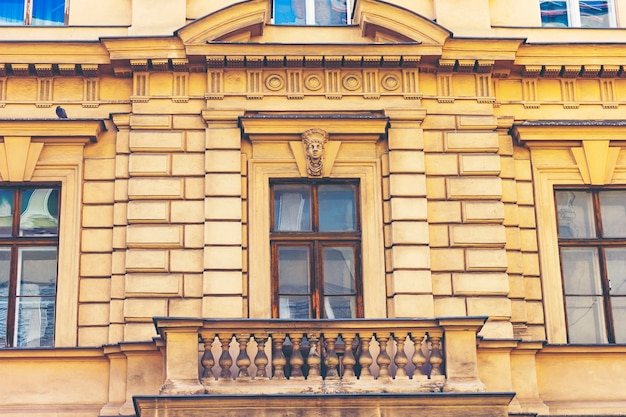 Old vintage door and window, europe style