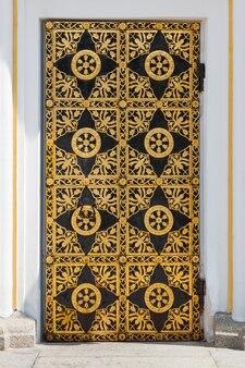 고 대 황금 장식 패턴 극단적인 근접 촬영으로 오래 된 빈티지 문