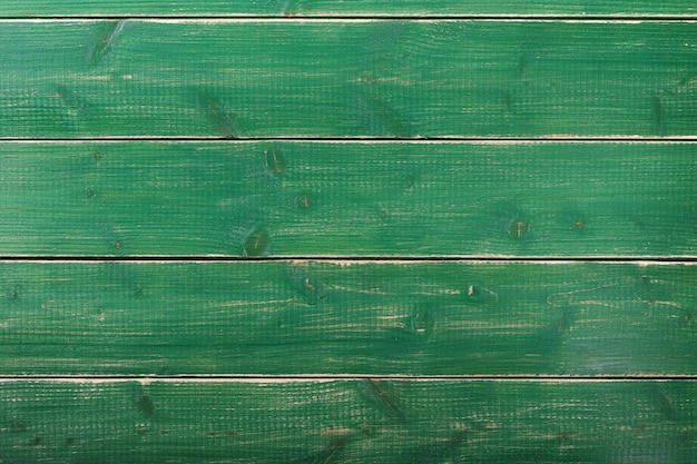 Old vintage green paint wood plank background surface