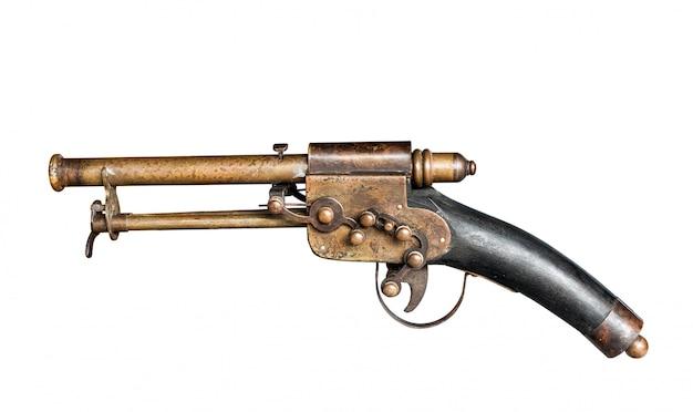 分離された古いビンテージ銃