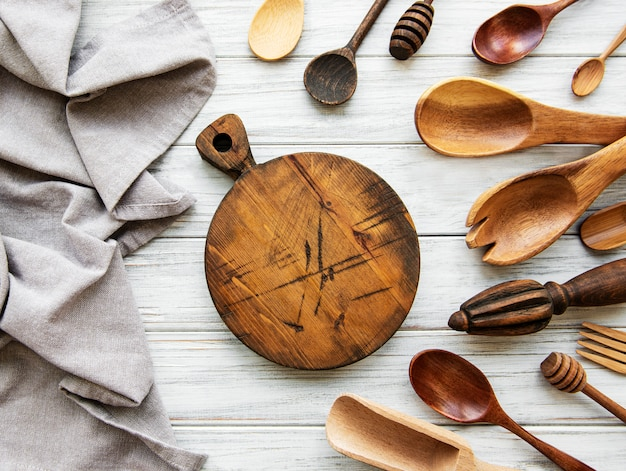Old vintage kitchen utensils