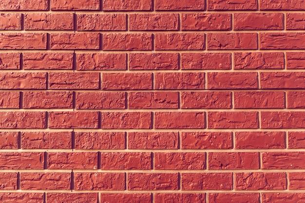 오래 된 빈티지 붉은 벽돌 벽 배경, 질감