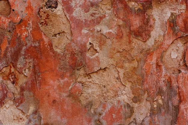 Old vintage red wall