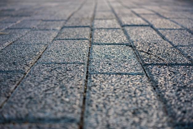The old vintage rough brick walkway