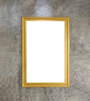 Old vintage rutic wooden picture frame