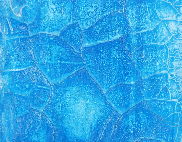 Old wall blue paint abstract background