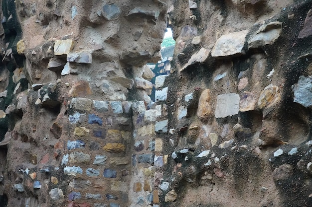 Old wall made using stones