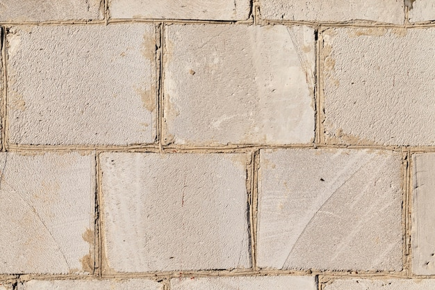 큰 규산염 블록, 근접 촬영으로 만든 건물의 오래 된 벽