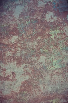 Old wall with cracked plaster filtered