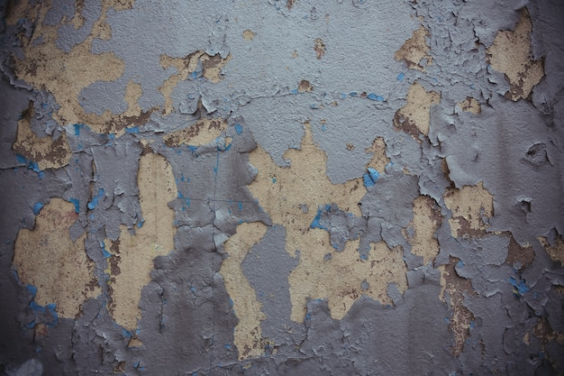 Old wall with peeled paint