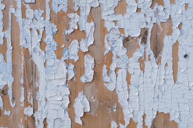 古い風化した青と白のグランジ素朴な木製パネル。木製の老化したテクスチャ板ストックフォト