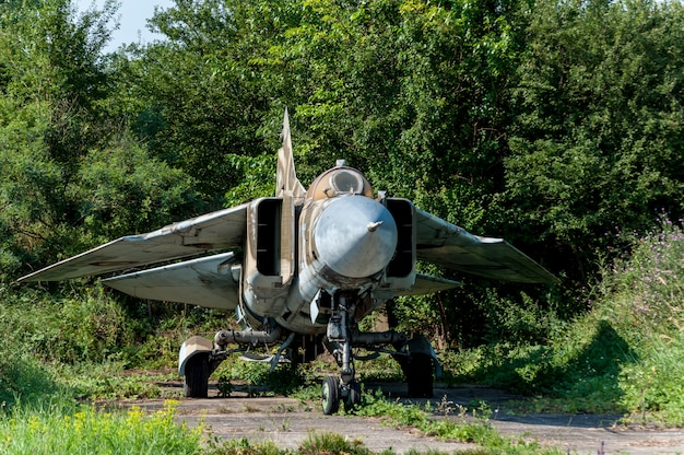 Old weathered mikoyan-gurevich mig-23mf