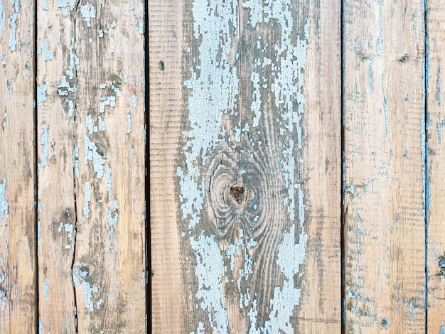 Old weathered painted wooden plank textured background