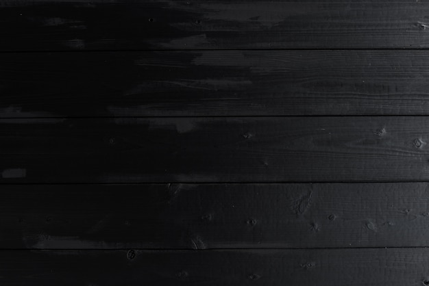 Old wheathered black color teak wooden wall texture background