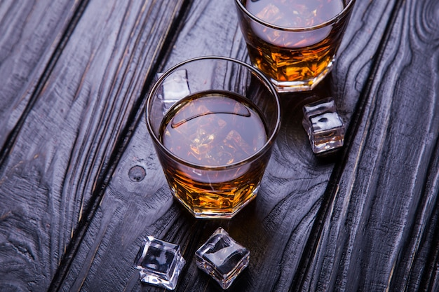 Old whisky and ice