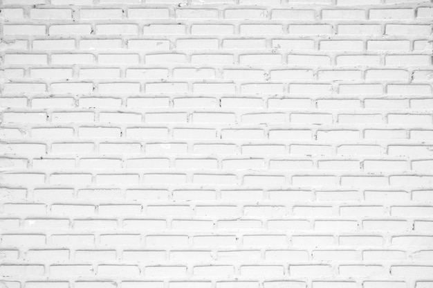Old white brick wall backgrounds, room, interior, backdrop.