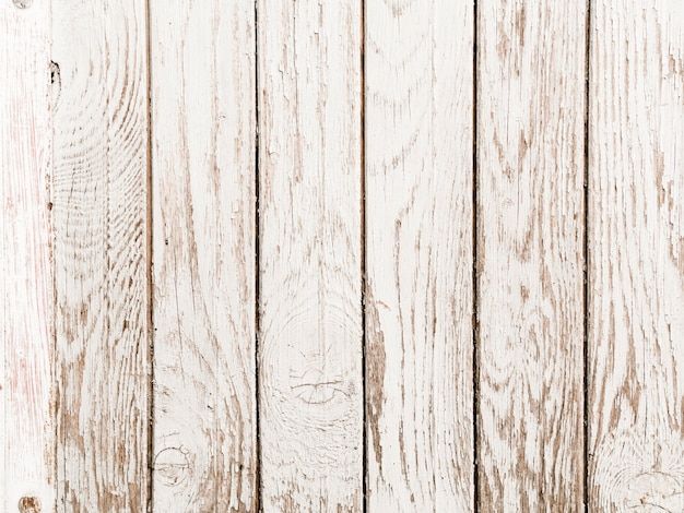 Old white painted wooden plank background