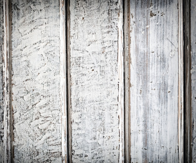 Old white wood plank background