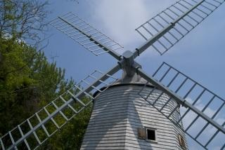 Old windmill  wooden