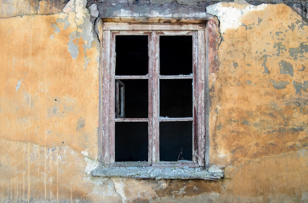 Old window without windows.