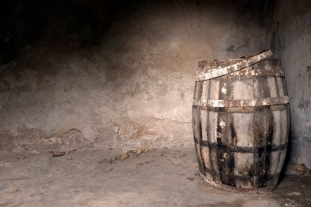 Old wine cellar in empty room