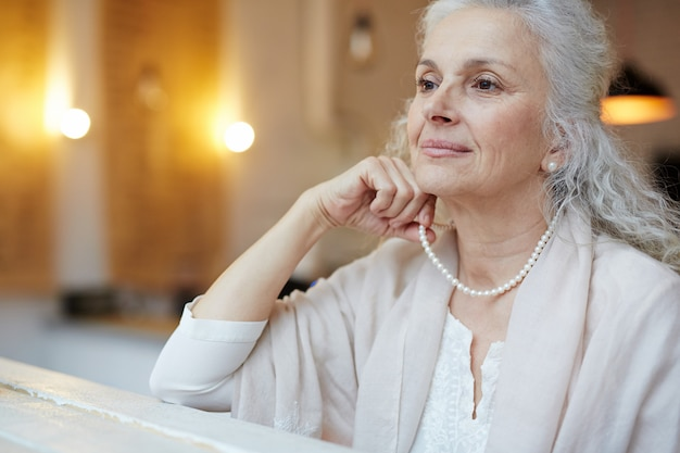 Old woman elegance