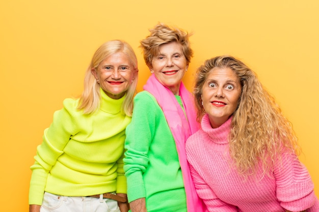 Old woman and her daughters