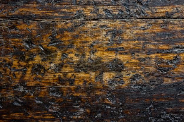 古い木の茶色と黒の色の抽象的なテクスチャ背景。