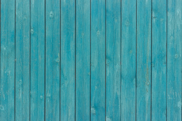 Old wood planks board painted blue color