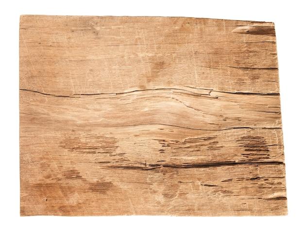 흰색 배경에 고립 된 오래 된 나무 판자의 텍스처