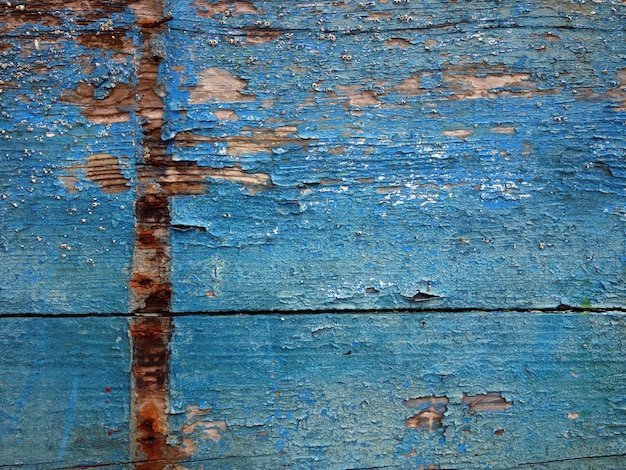 Old wood texture painted blue worn by the effect of sea and salt.