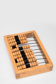 Old wooden abacus.