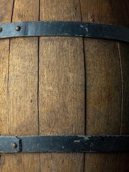 古い木製のビール樽の背景
