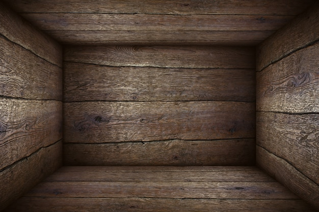 Old wooden box background