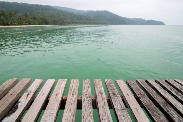 Old wooden bridge floor background