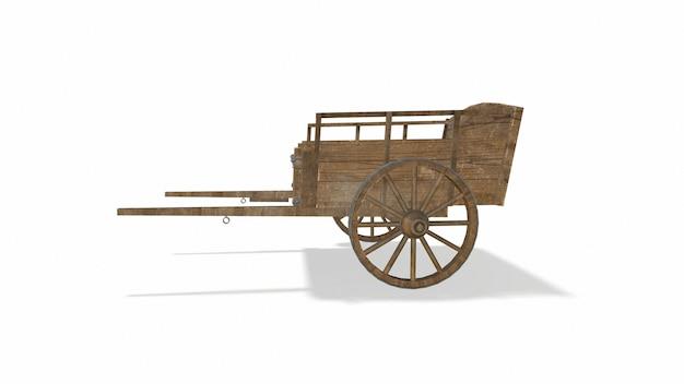 Старая деревянная тележка