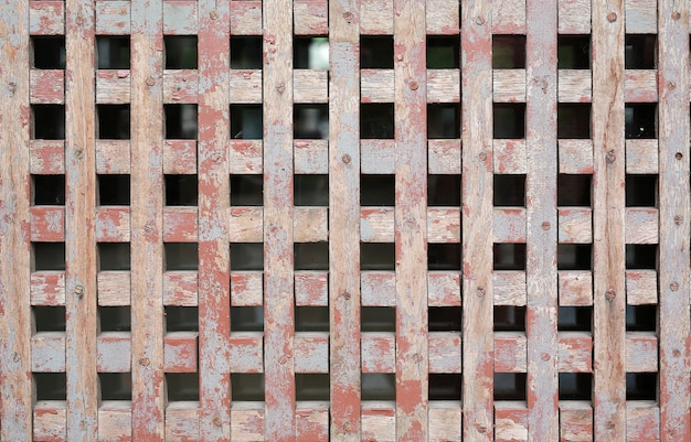 Old wooden grid wall texture for air ventilation